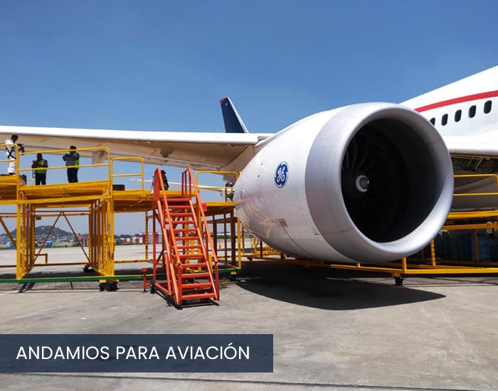 Andamios para industria de la aviación