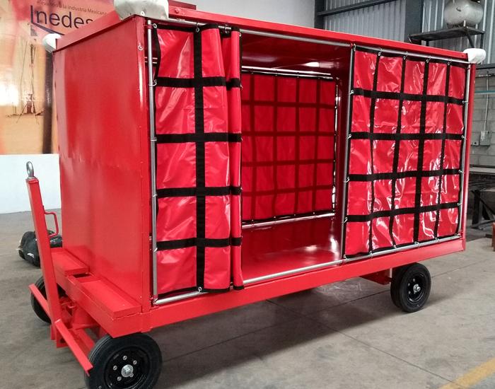"""Carro para equipaje con ruedas: Solidas de 10X5"""""""
