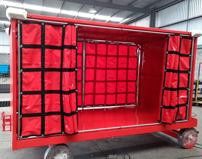 Carro equipajero con capacidad de carga: 8000 lbs