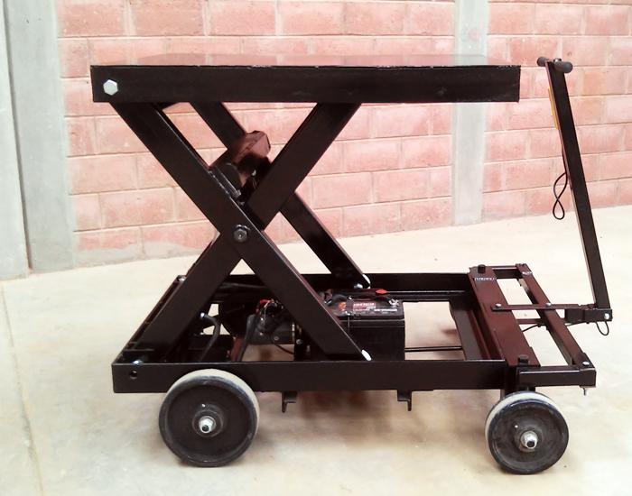 Elevador de tijera portátil