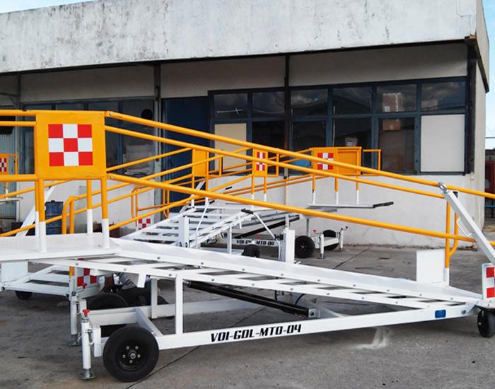 Escaleras fabricadas en acero estructural