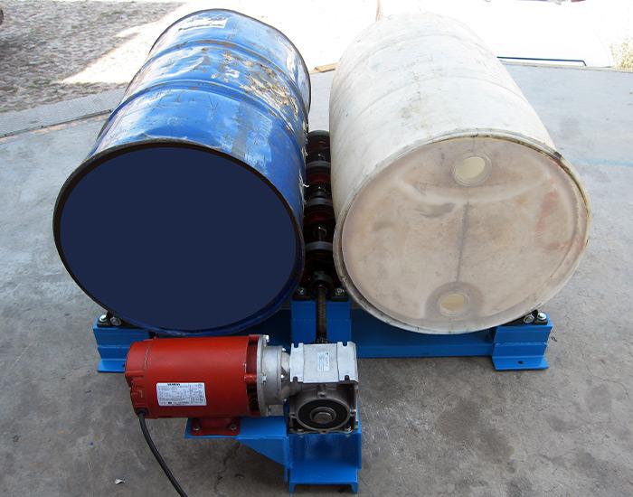 Mezclador de tambos en uso