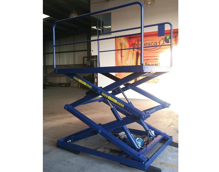 Plataformas de tijera con rampa